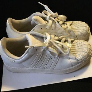 White Adidas Superstar